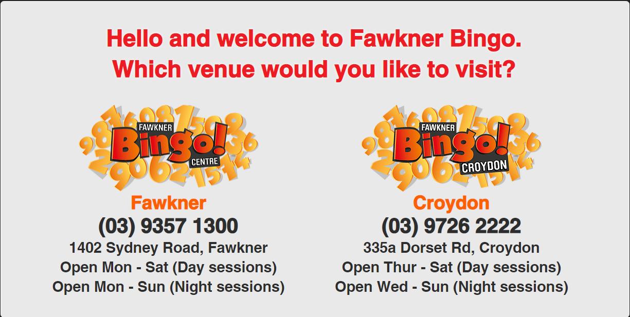 Fawkner Bingo