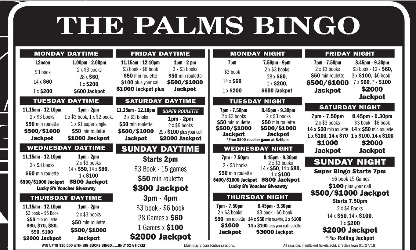Palms Bingo and Club