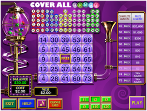 Coverall Bingo Games