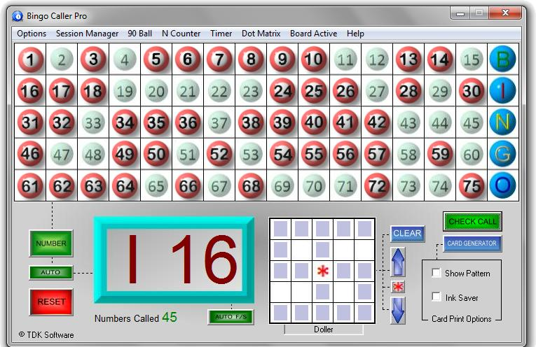 Frequently called Bingo Numbers