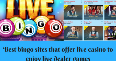 Best bingo sites that offer live casino to enjoy live dealer games