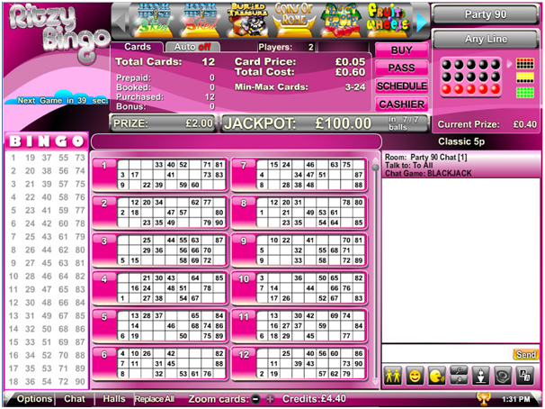 90 ball bingo play online
