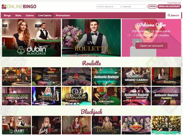 Online Bingo- Live Casino