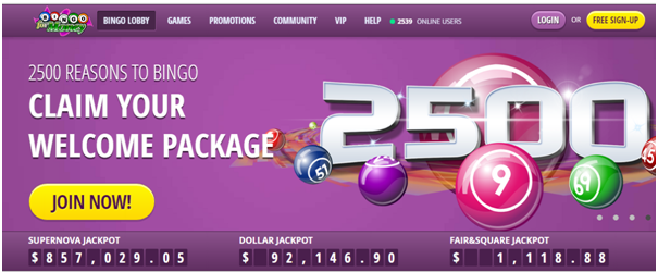 South Beach Bingo Bonus offers in AUD