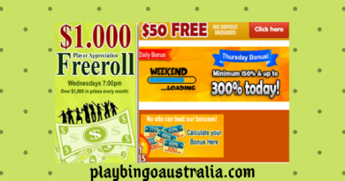 $1.000 player appreciation free roll to grab at Bingo Australia