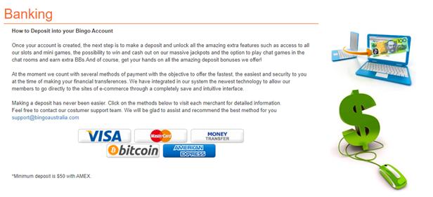 banking at bingo australia