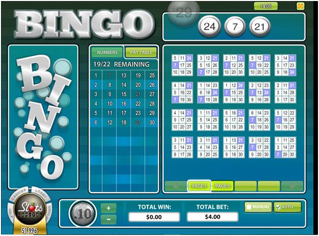 30 Ball Bingo at Slots Capital