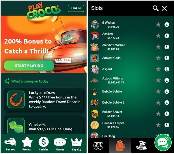 playcroco pokie mobile app