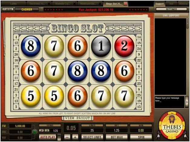 How to play Bingo slot 5 line